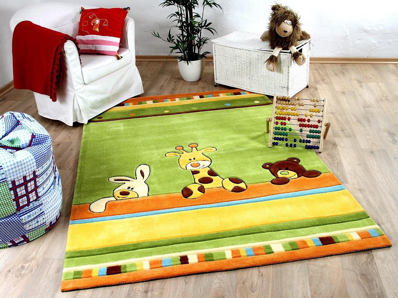 Kinderteppich grün  Lifestyle Kinderteppich Giraffe Grün !!! Sofort Lieferbar !!!