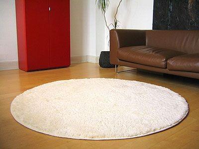 Teppich rund hochflor