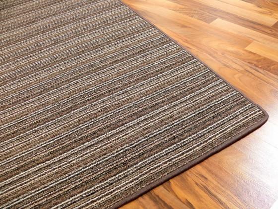streifenberber teppich braun lines in 24 gr en ebay. Black Bedroom Furniture Sets. Home Design Ideas