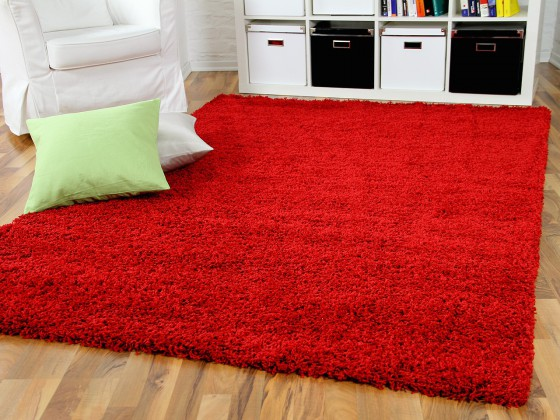 hochflor langflor shaggy teppich aloha rot ebay. Black Bedroom Furniture Sets. Home Design Ideas
