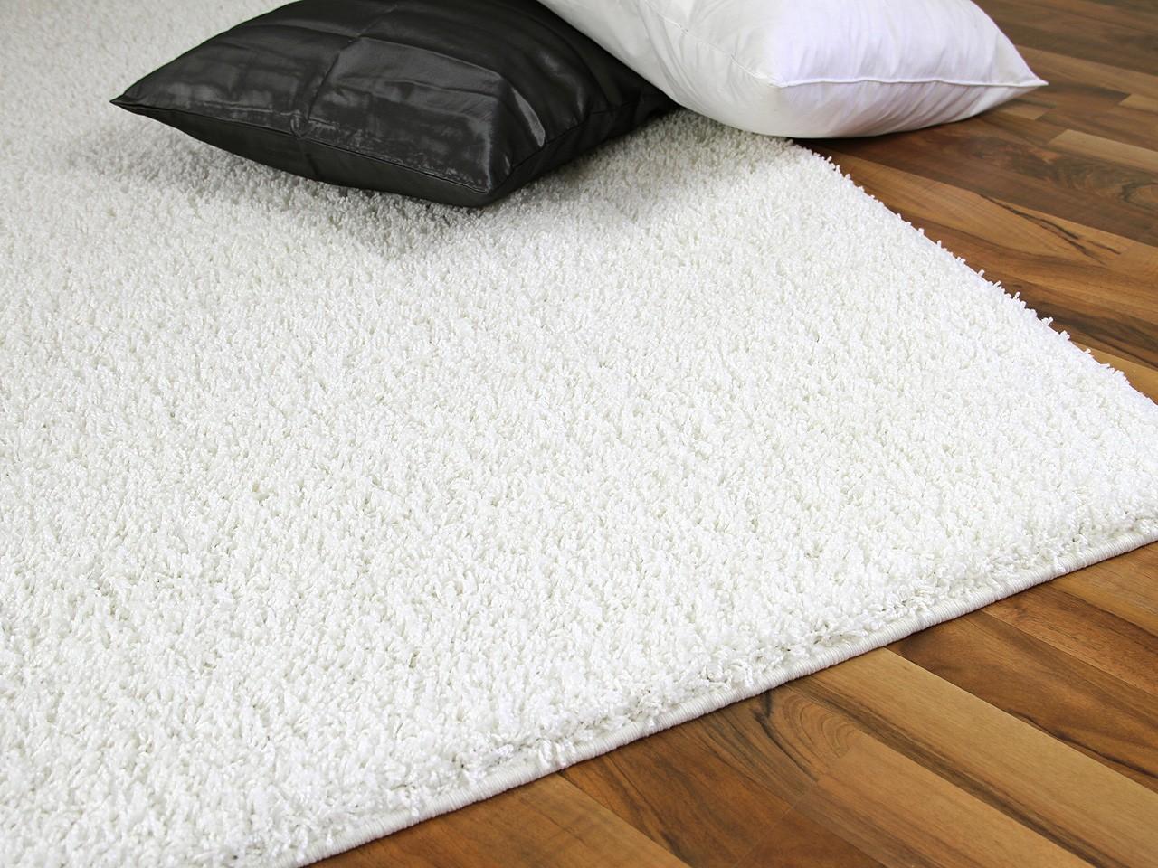 teppich hochflor shaggy premio weiss abverkauf teppiche. Black Bedroom Furniture Sets. Home Design Ideas