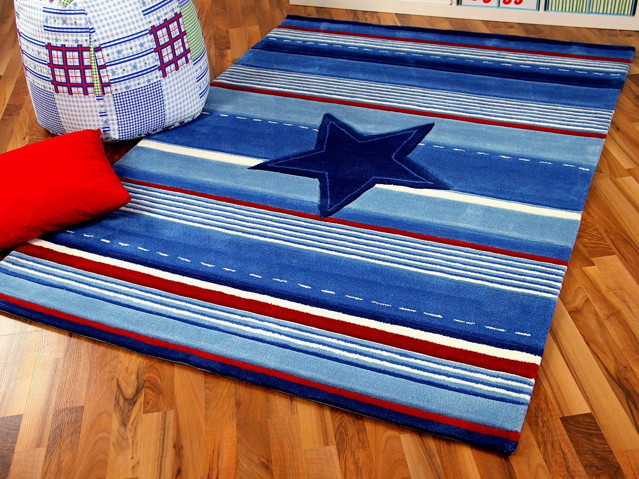 Kinderteppich dunkelblau  Kinderteppich Hellblau Sterne | Haus Deko Ideen