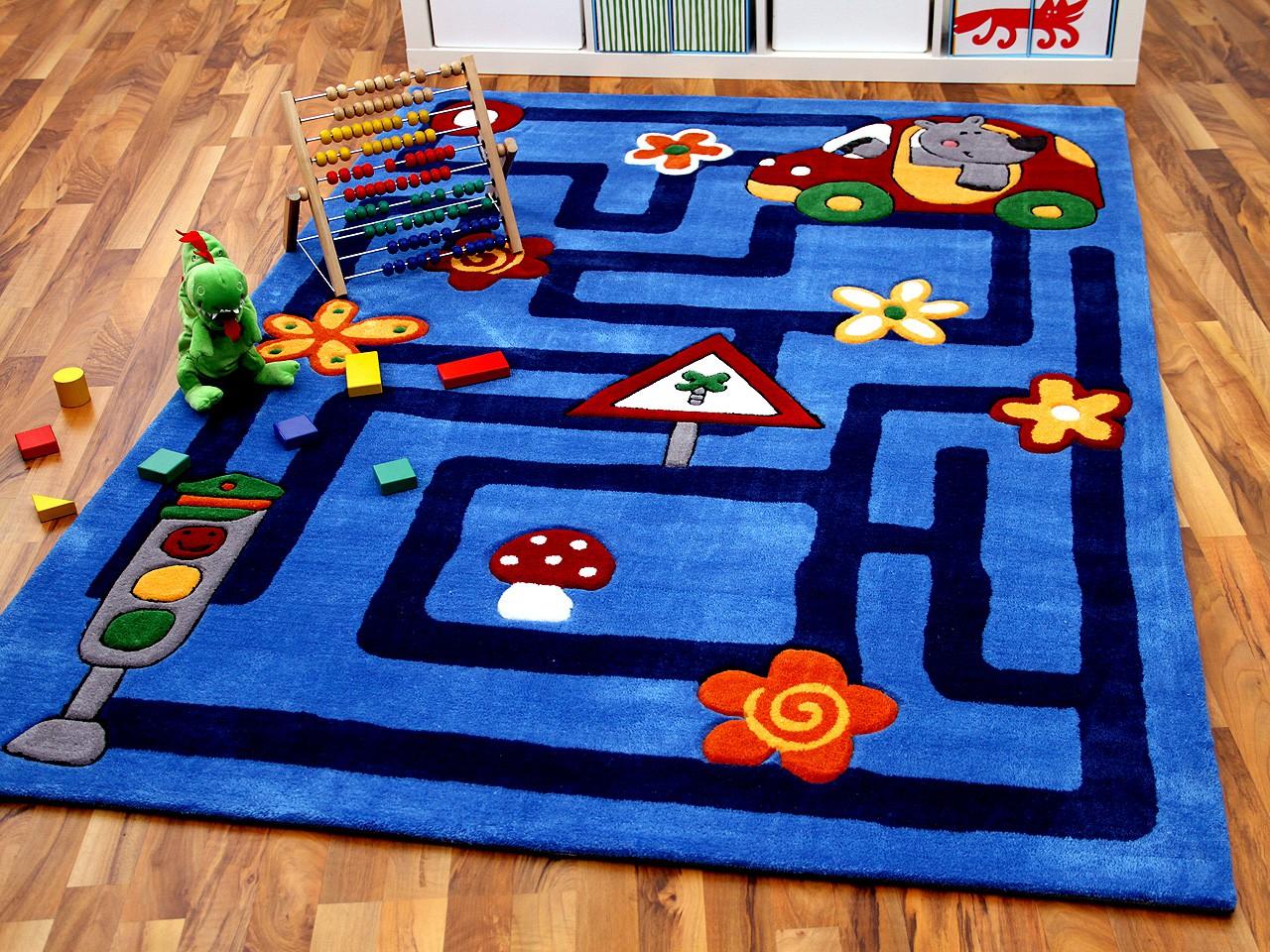 Kinderteppich blau  Lifestyle Kinderteppich Labyrinth Blau !!! Sofort Lieferbar !!! | eBay
