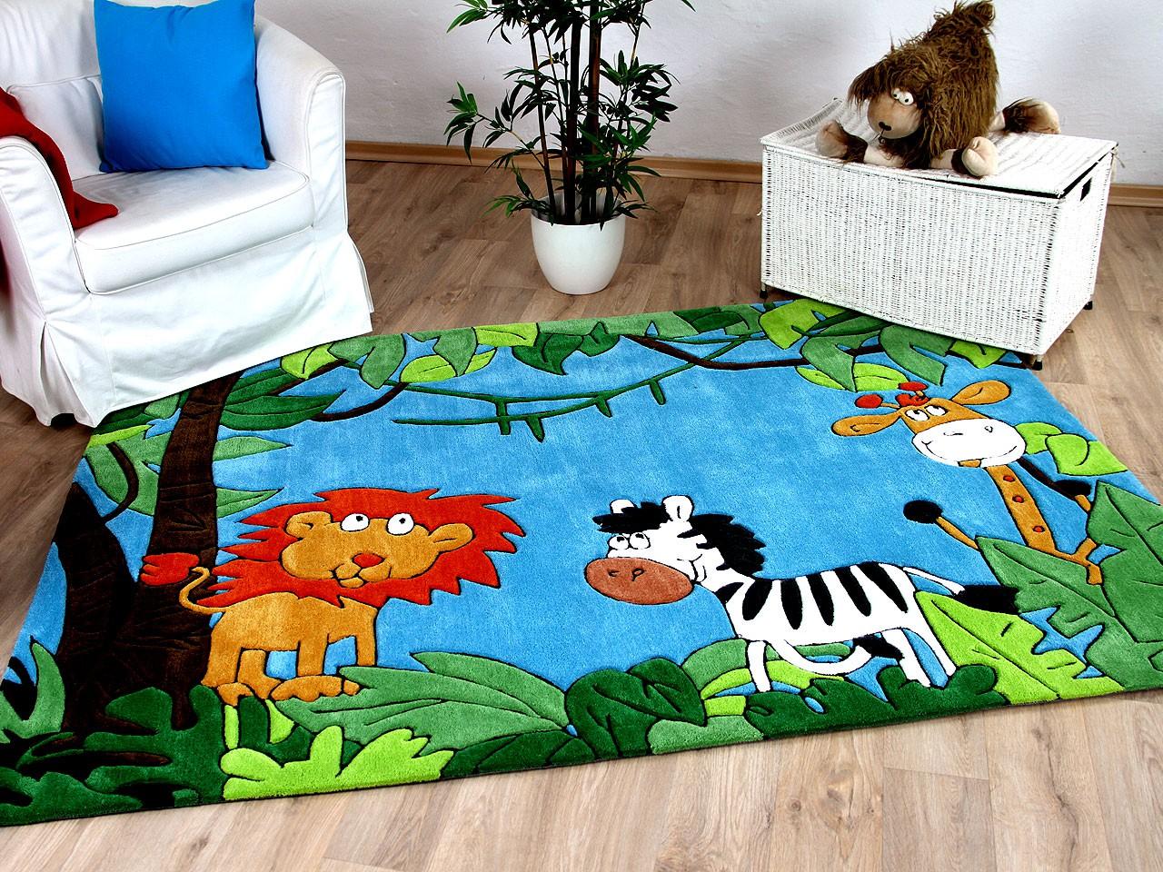 lifestyle kinderteppich bunt urwald sofort lieferbar teppiche kinder und spielteppiche. Black Bedroom Furniture Sets. Home Design Ideas