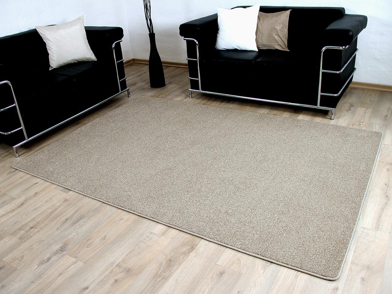 hochflor velours teppich belini melange beige abverkauf teppiche hochflor langflor teppiche. Black Bedroom Furniture Sets. Home Design Ideas