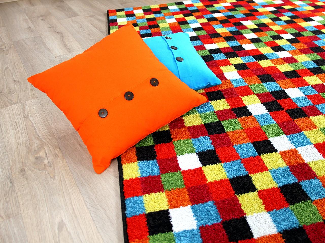 Designer Teppich Funky Pixel Rot Teppiche Designerteppiche