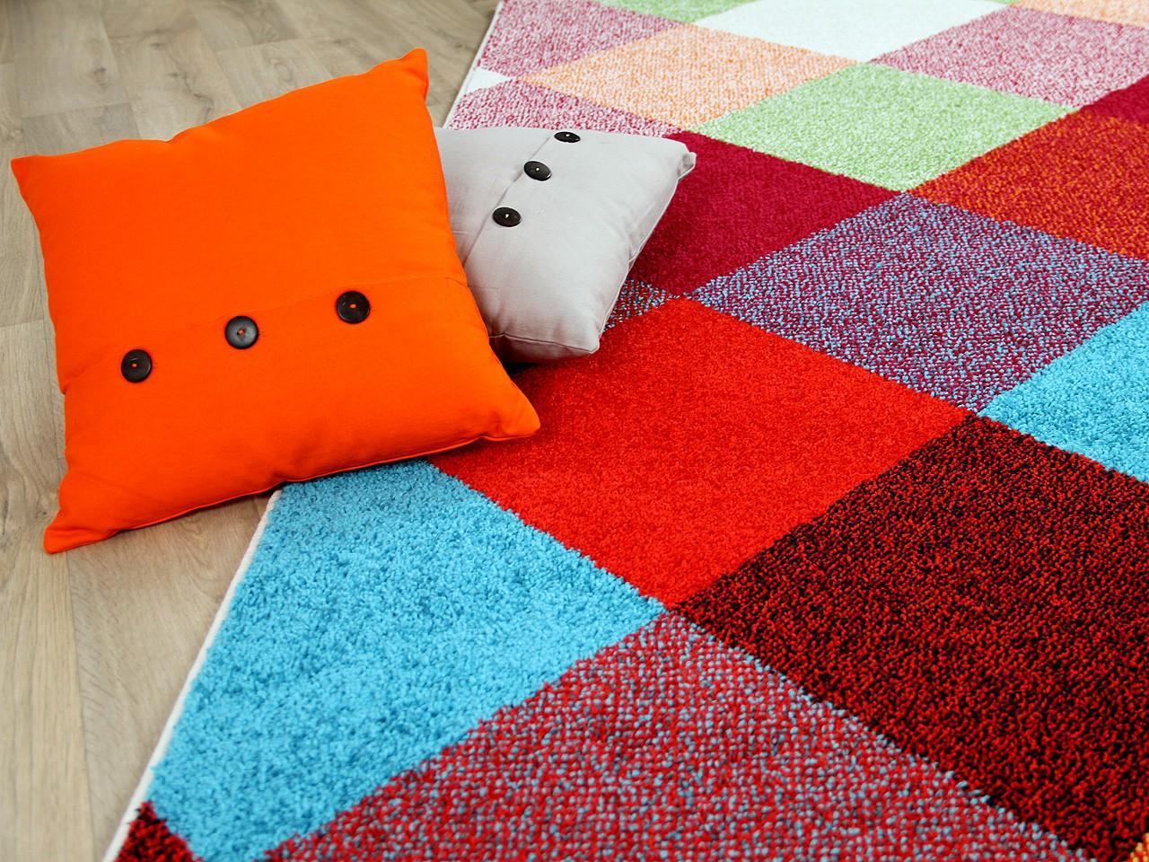 teppich bunt karo 11231720171008. Black Bedroom Furniture Sets. Home Design Ideas