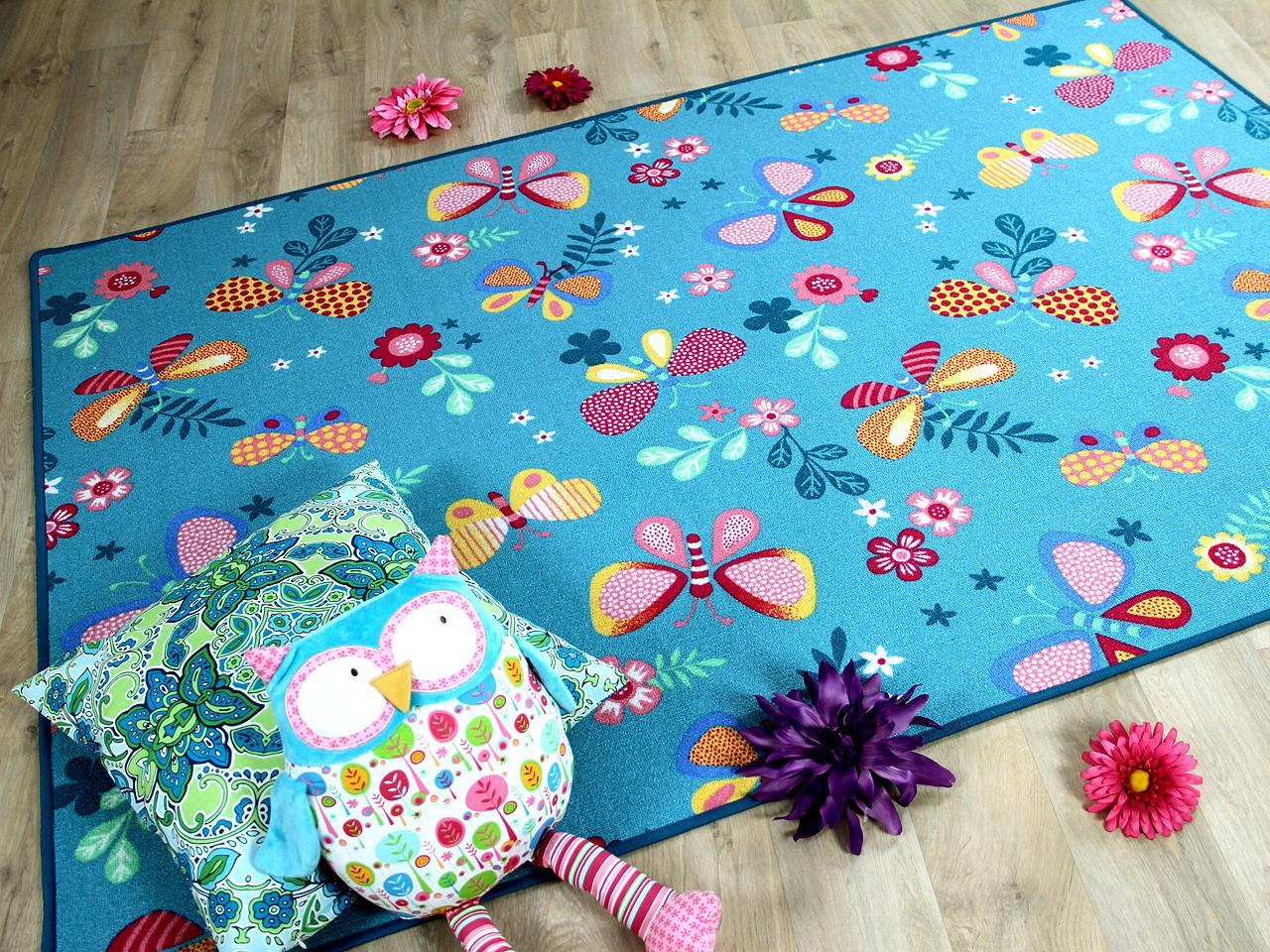 kinder spiel teppich schmetterling t rkis teppiche kinder und spielteppiche snapstyle. Black Bedroom Furniture Sets. Home Design Ideas