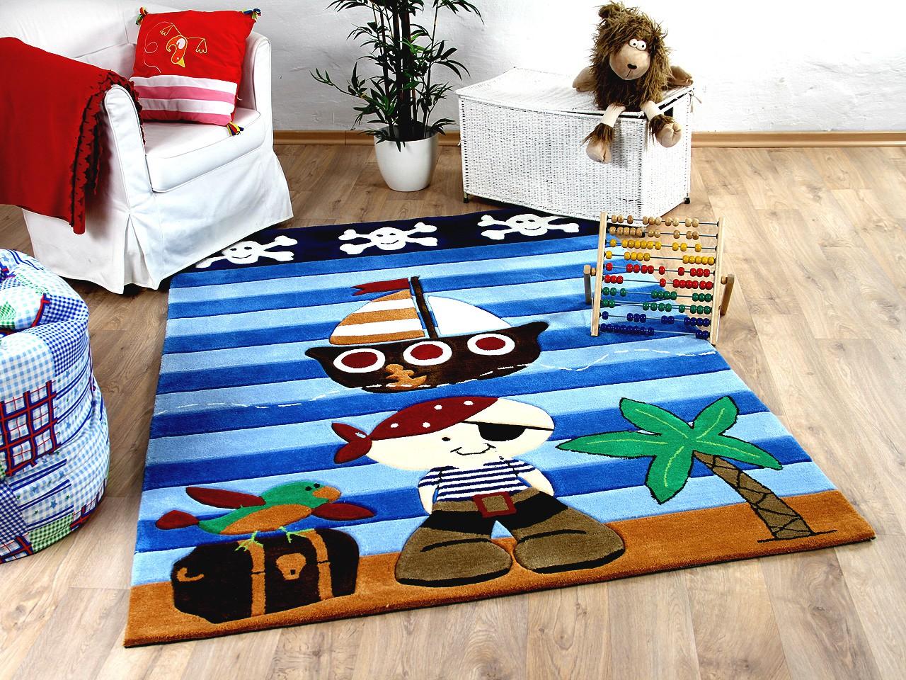 Lifestyle Kinderteppich Pirat Blau Sofort Lieferbar