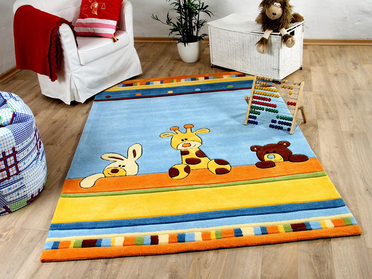 Lifestyle Kinderteppich Giraffe Blau !!! Sofort Lieferbar