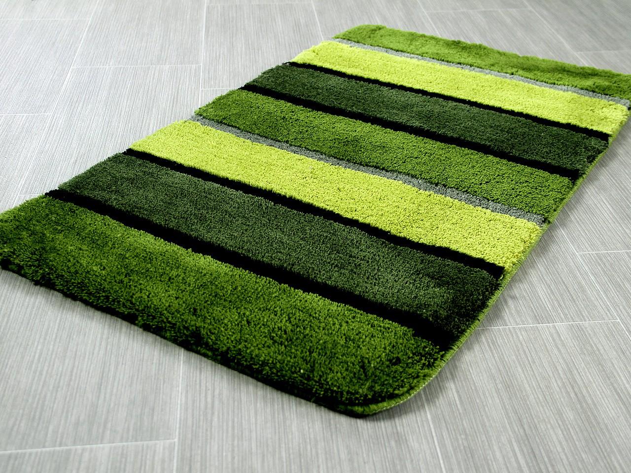 pacific badteppich bali gr n streifen in 5 gr en badteppiche pacific badteppiche. Black Bedroom Furniture Sets. Home Design Ideas