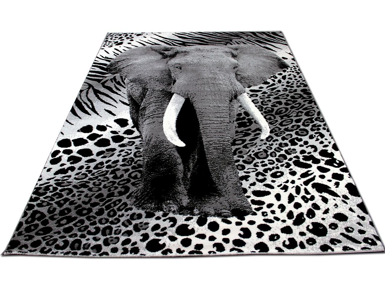 Designer Teppich Carat Elefant Grau Teppiche
