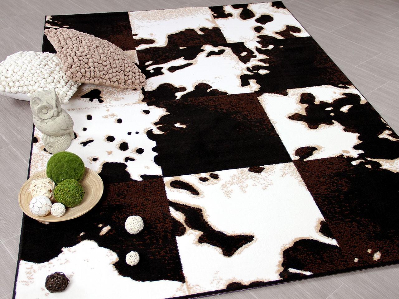 designer teppich safari kuh patchwork teppiche designerteppiche safari teppiche. Black Bedroom Furniture Sets. Home Design Ideas