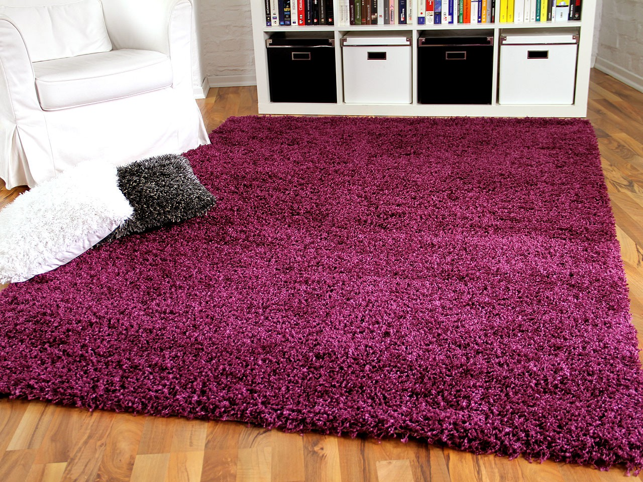 hochflor langflor shaggy teppich aloha purple teppiche hochflor langflor teppiche pink lila und. Black Bedroom Furniture Sets. Home Design Ideas