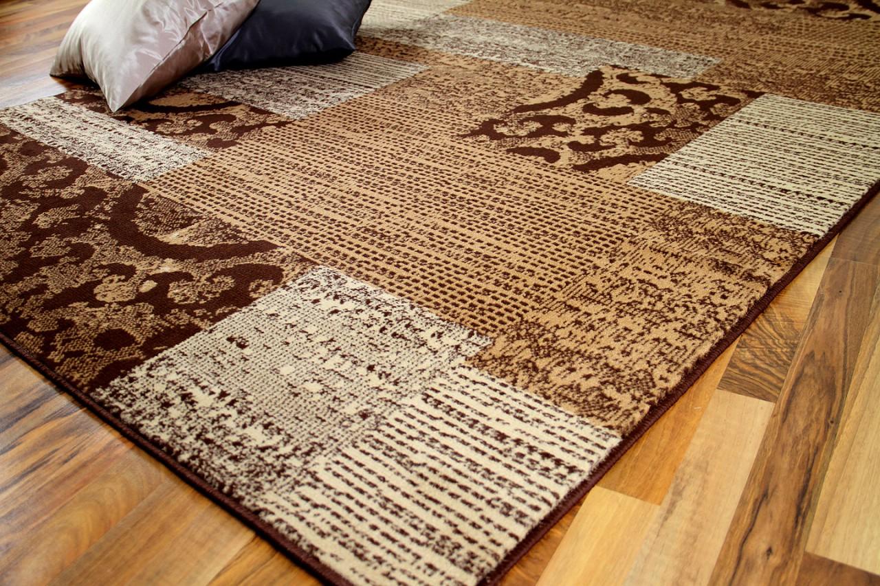 teppich trendline patchwork beige braun in 4 gr en. Black Bedroom Furniture Sets. Home Design Ideas