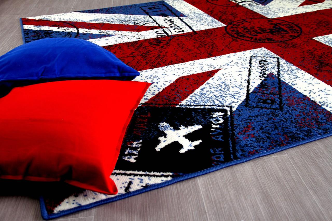 Teppich Trendline Union Jack Rot Blau in 4 Größen Teppiche