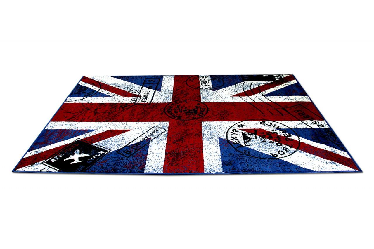 Teppich trendline union jack rot blau in größen teppiche