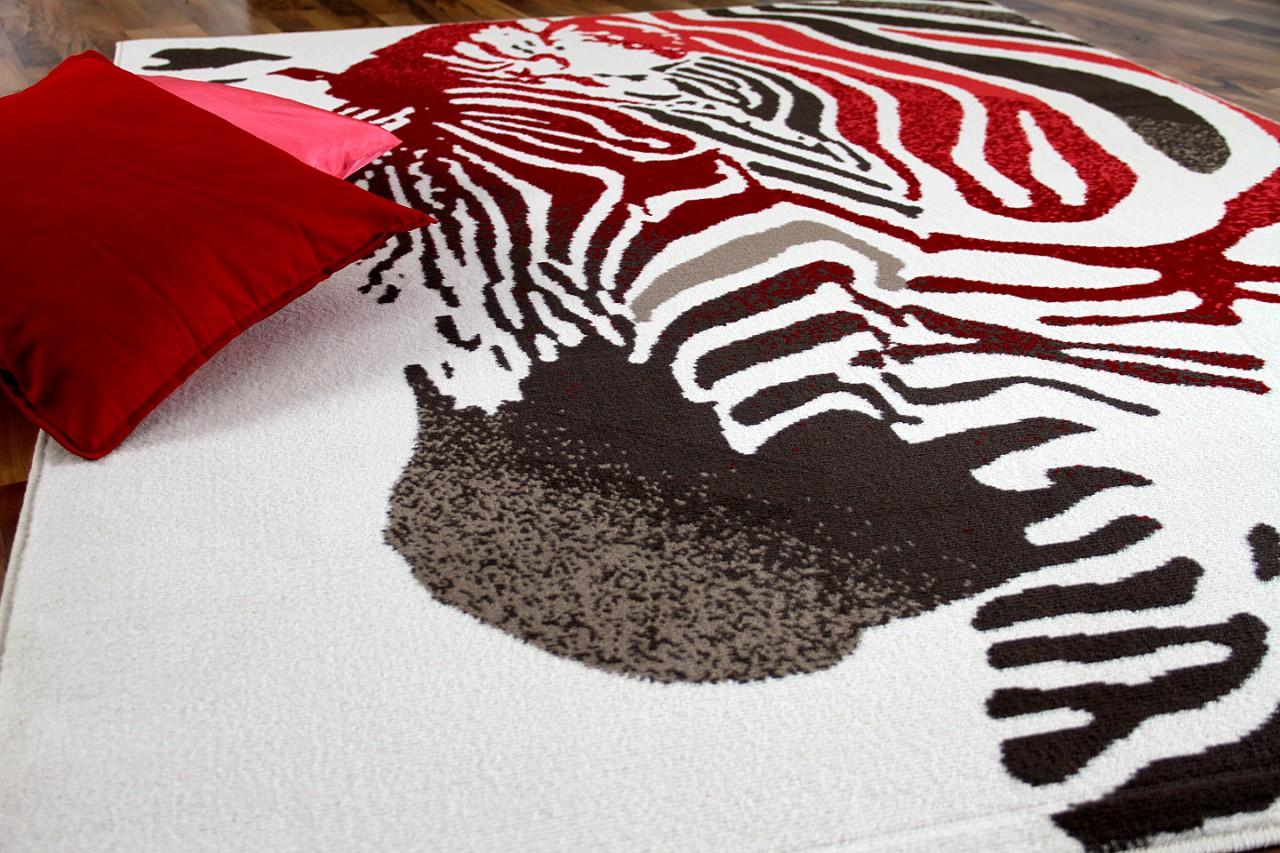 teppich modern trendline corall creme zebra 4 gr en. Black Bedroom Furniture Sets. Home Design Ideas