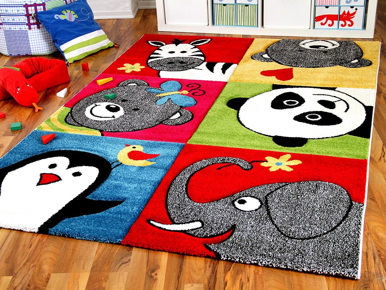 kinder teppich savona kids lustige zootiere bunt teppiche. Black Bedroom Furniture Sets. Home Design Ideas