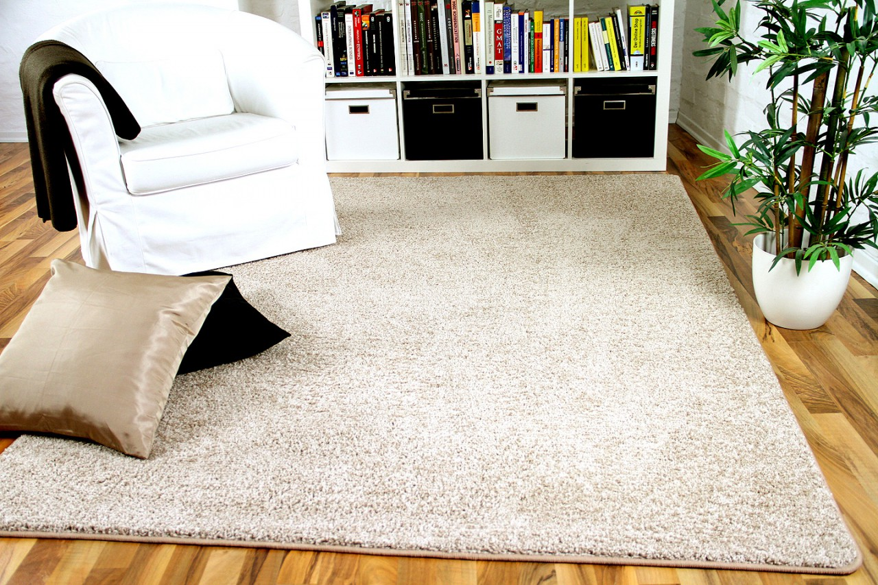 hochflor velours teppich mona natur in 24 gr en teppiche veloursteppiche kr usel velours. Black Bedroom Furniture Sets. Home Design Ideas