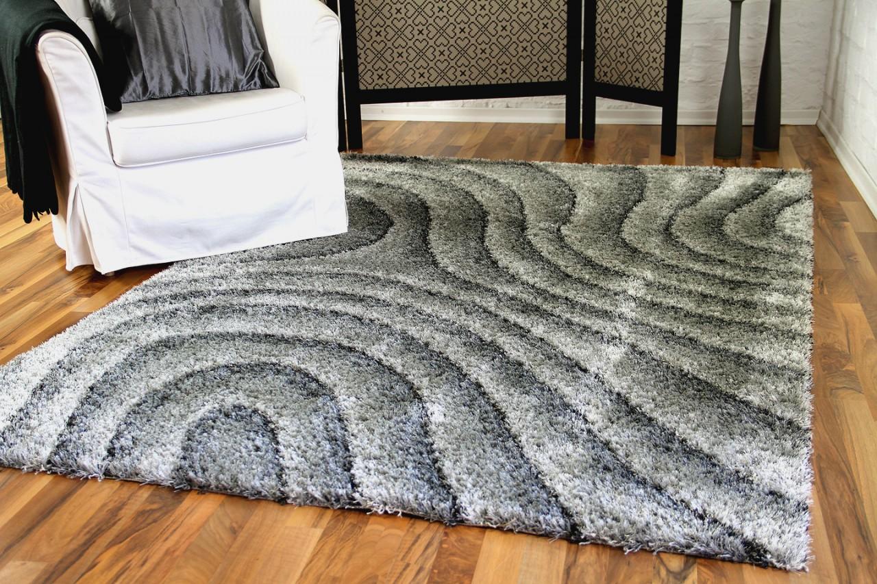 hochflor langflor shaggy teppich lambada silber wellen teppiche hochflor langflor teppiche. Black Bedroom Furniture Sets. Home Design Ideas