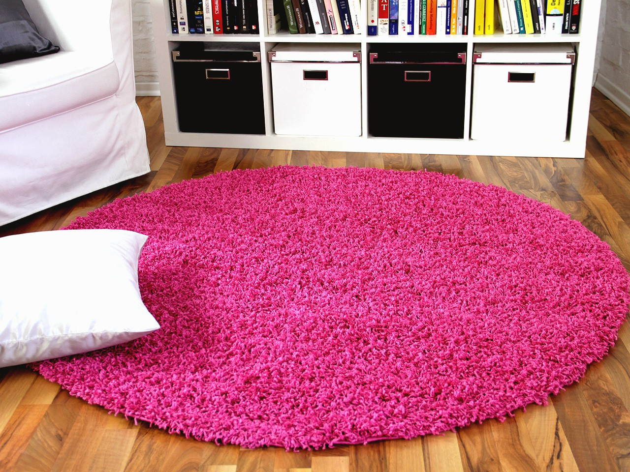 hochflor langflor shaggy teppich aloha pink rund teppiche. Black Bedroom Furniture Sets. Home Design Ideas