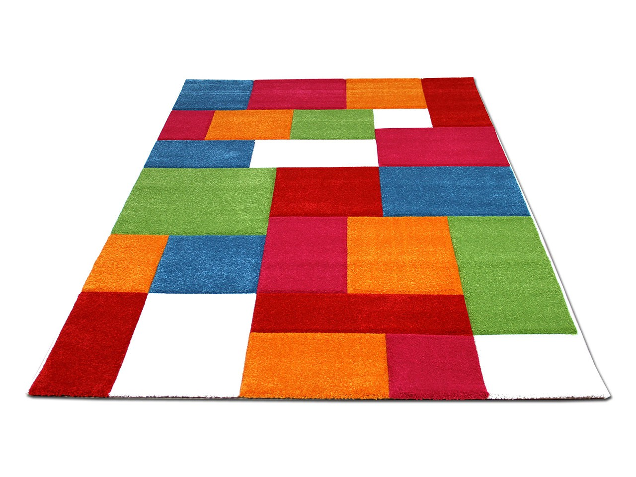 Kinder Teppich Savona Kids Karo Bunt Design Multicolour