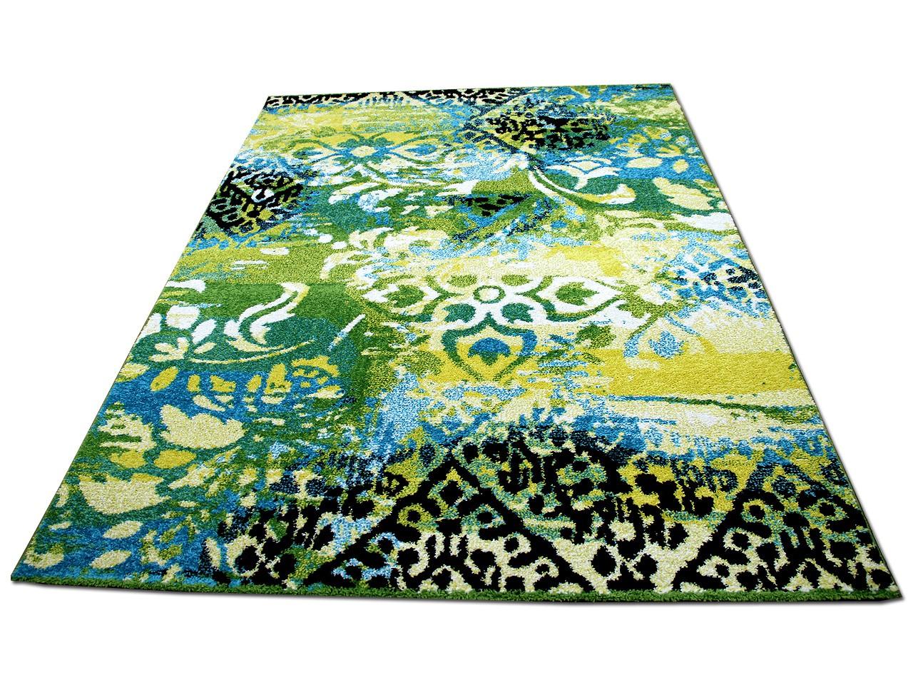 designer teppich funky vintage modern blau gr n teppiche. Black Bedroom Furniture Sets. Home Design Ideas