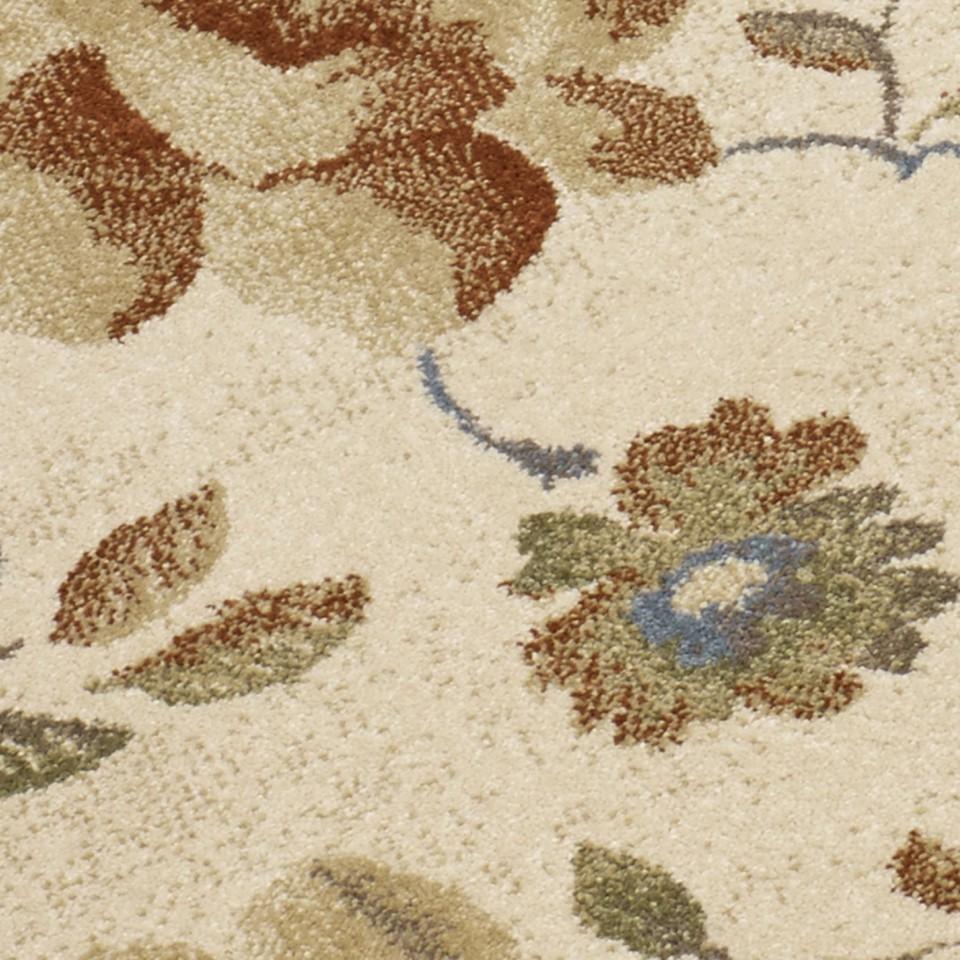 Designer Teppich Sevilla Klassik Blumen Beige Teppiche