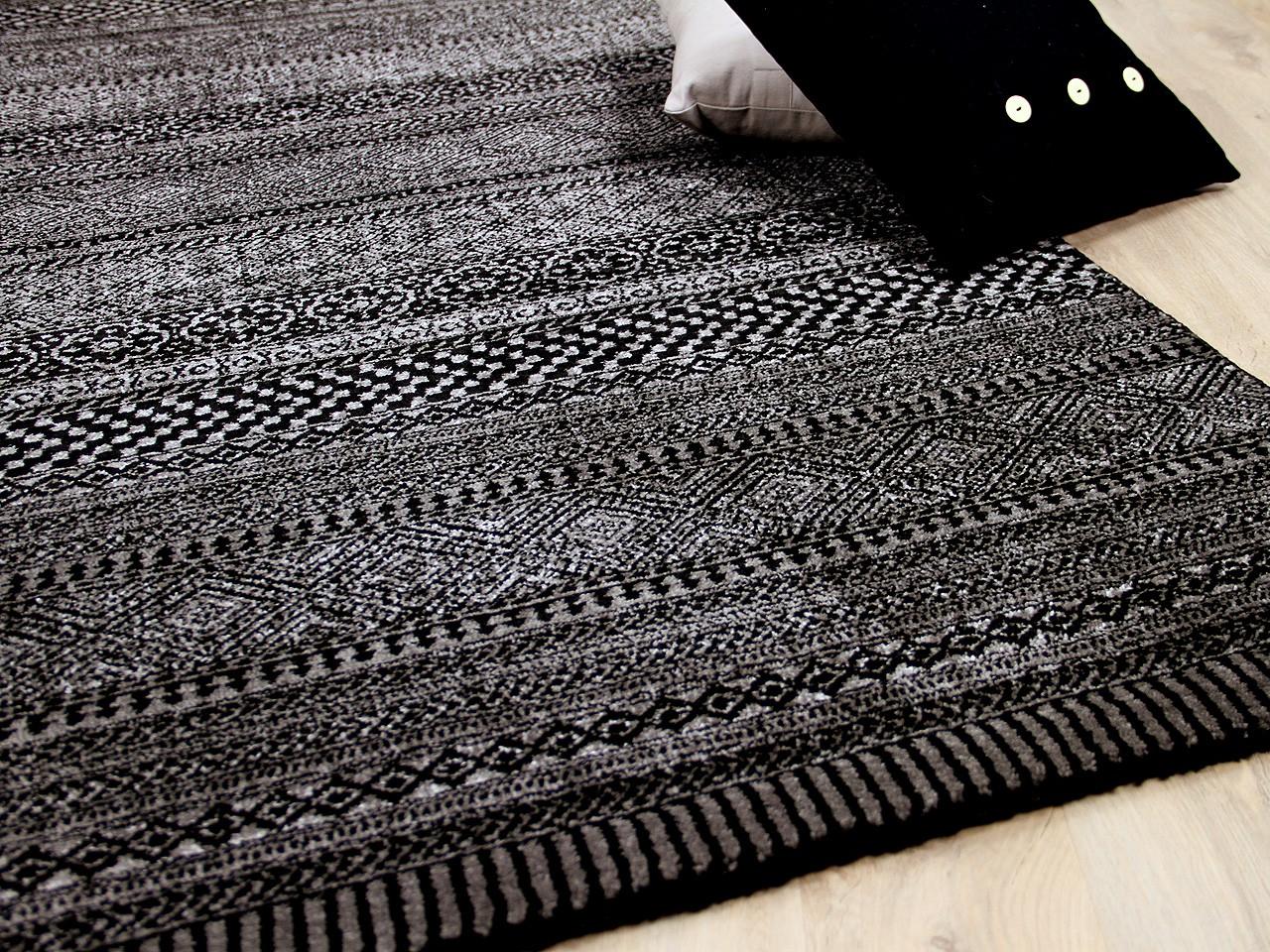 Designer teppich sevilla modern anthrazit trend teppiche - Anthrazit teppich ...