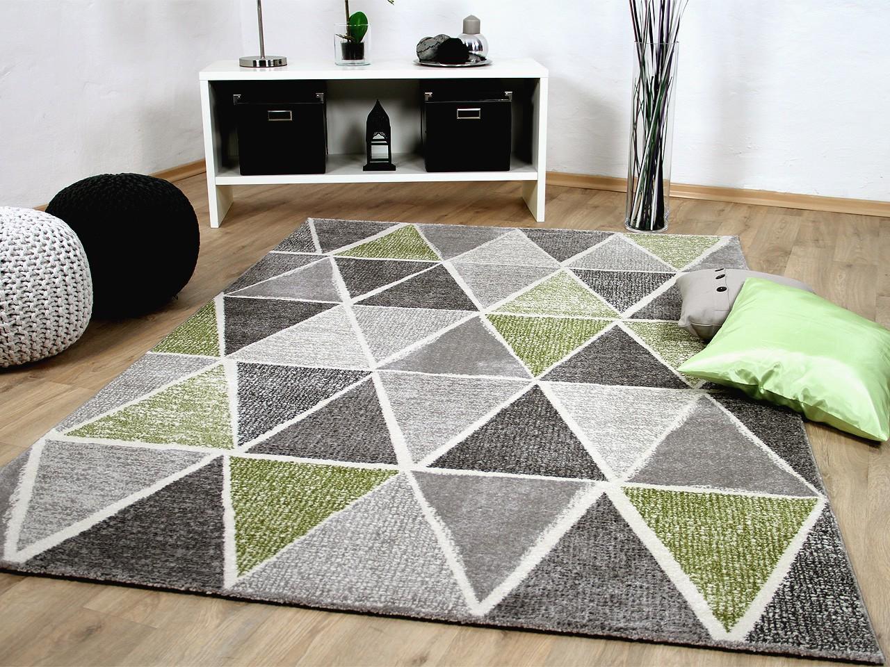 designer teppich sevilla modern grau gr n prisma teppiche. Black Bedroom Furniture Sets. Home Design Ideas