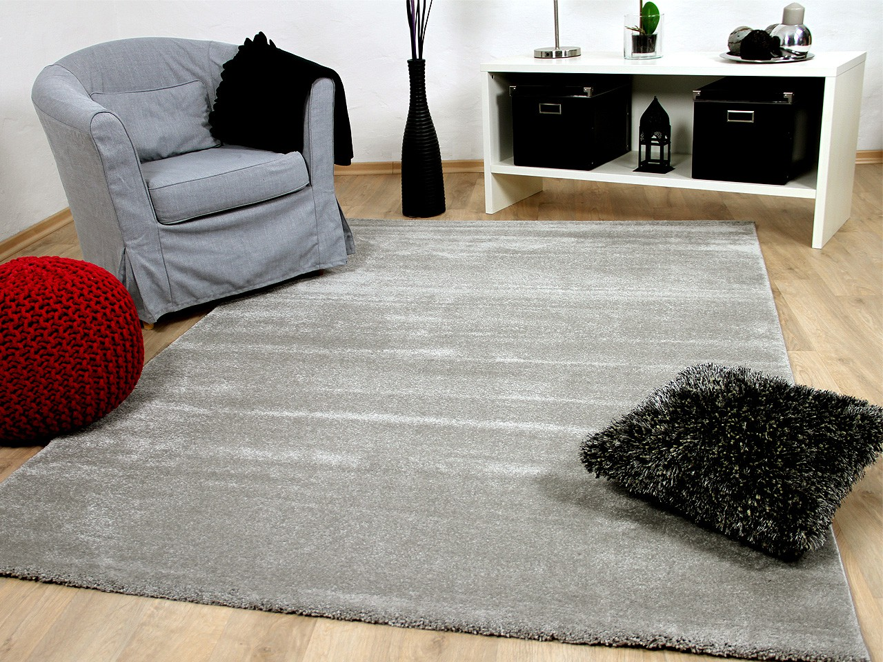 luxus soft velours teppich gala grau teppiche hochflor. Black Bedroom Furniture Sets. Home Design Ideas