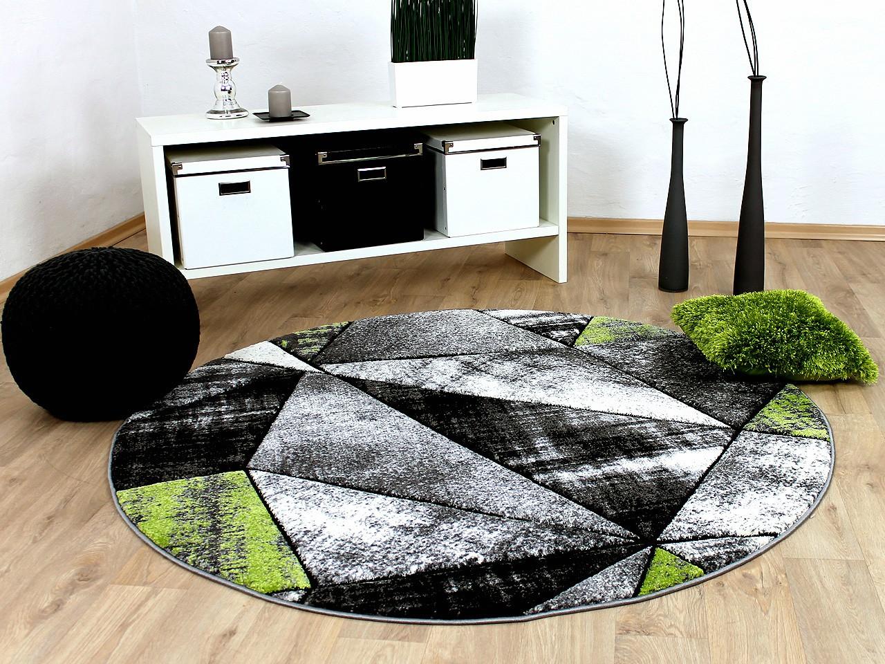 designer teppich brilliant grau gr n magic rund teppiche designerteppiche brilliant teppiche. Black Bedroom Furniture Sets. Home Design Ideas