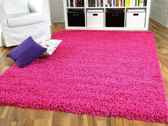 hochflor langflor shaggy teppiche in pink lila und rosa. Black Bedroom Furniture Sets. Home Design Ideas