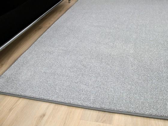 hochflor velours teppich belini melange silber teppiche hochflor langflor teppiche schwarz grau. Black Bedroom Furniture Sets. Home Design Ideas