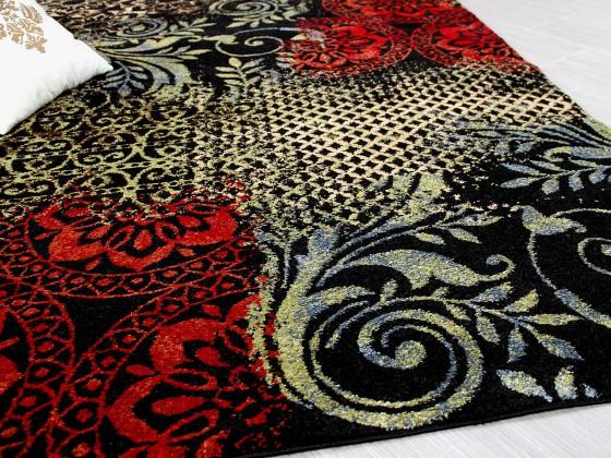 designer teppich suite vintage schwarz rot teppiche designerteppiche suite designer. Black Bedroom Furniture Sets. Home Design Ideas