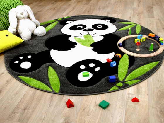 Kinder Spiel Teppich Savona Kids Pandabär Rund Teppiche