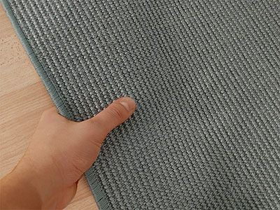 Sisal teppich grau