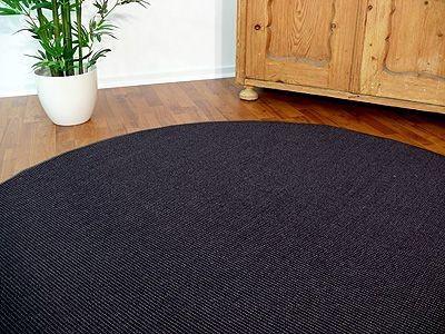 sisal natur teppich dekowe anthrazit rund in 7 gr en teppiche sisal und naturteppiche sisal. Black Bedroom Furniture Sets. Home Design Ideas