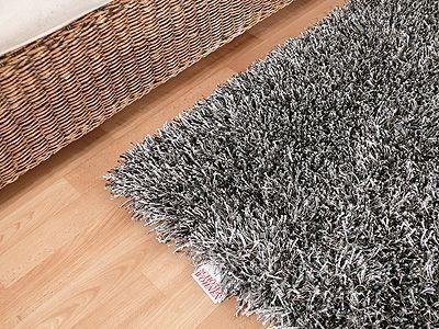 teppich hochflor shaggy sch ner wohnen feeling grau sonderangebot. Black Bedroom Furniture Sets. Home Design Ideas