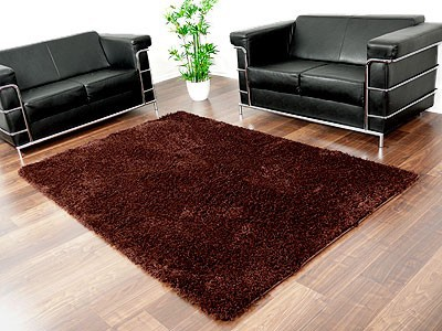 hochflor langflor shaggy teppiche in braun und choco. Black Bedroom Furniture Sets. Home Design Ideas