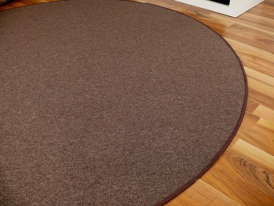 feinschlingen velour teppich strong dunkelbraun rund in 7. Black Bedroom Furniture Sets. Home Design Ideas