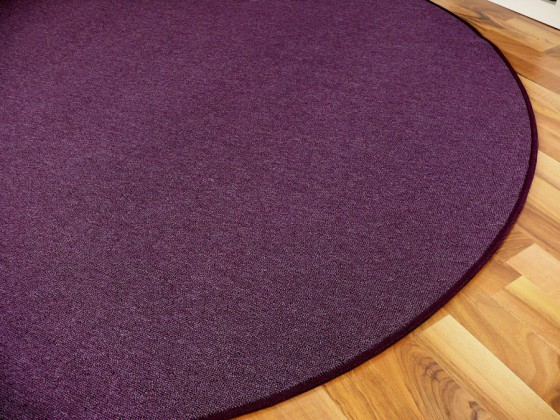feinschlingen velour teppich strong lila rund in 7 gr en. Black Bedroom Furniture Sets. Home Design Ideas