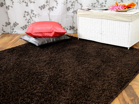 hochflor langflor teppich shaggy nova braun sonderaktion sonderposten hochflor langflor. Black Bedroom Furniture Sets. Home Design Ideas