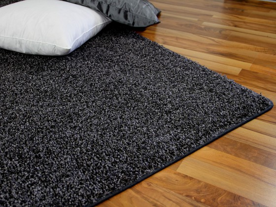 teppich hochflor shaggy premio anthrazit in 24 gr en teppiche hochflor langflor teppiche. Black Bedroom Furniture Sets. Home Design Ideas