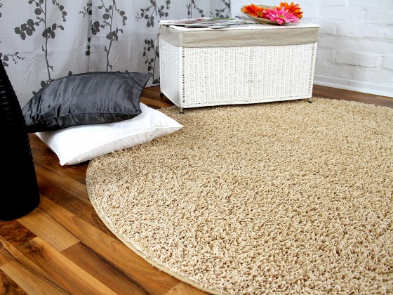 hochflor langflor teppich shaggy nova beige rund sonderaktion sonderposten hochflor langflor. Black Bedroom Furniture Sets. Home Design Ideas
