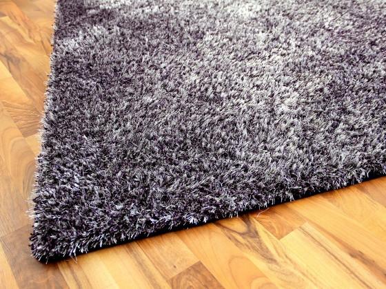 hochflor shaggy teppich luxus feeling mix lila silber abverkauf teppiche hochflor langflor. Black Bedroom Furniture Sets. Home Design Ideas