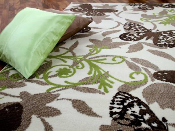 Teppich Trendline Butterfly Braun in 4 Größen Teppiche