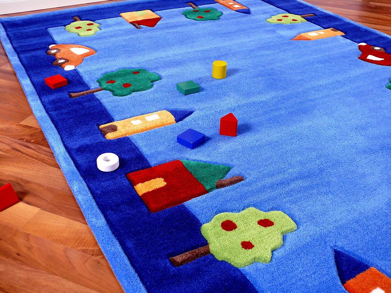 Lifestyle Kinderteppich Spielwelt Blau !!! Sofort ...