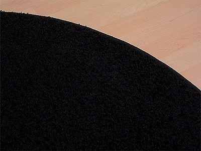 teppich hochflor shaggy prestige schwarz rund in 7 gr en. Black Bedroom Furniture Sets. Home Design Ideas